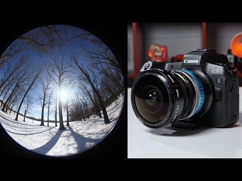 Canon EOS R + Retro Fisheye Lens!