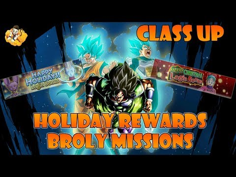 Class Up Holiday Login Bonus More Broly Missions Dragon Ball Legends DB DBL DBZ