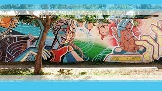 Ce Marlene Z - Proceso Mural LA CANCIÓN ARGENTINA - Carlos Pellegrini MIM 2016!!