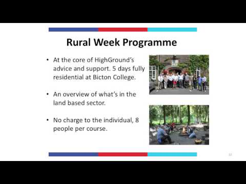 Opportunities in the Land Based Sector with HighGround