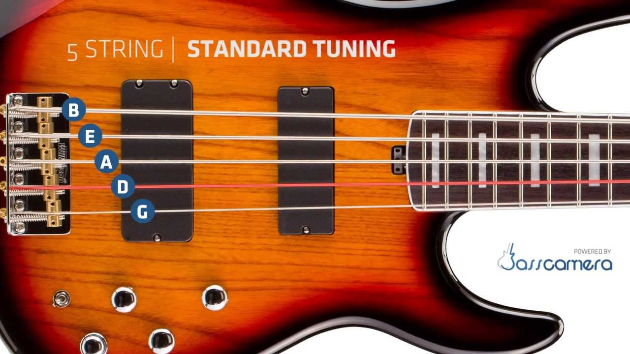 bass tuning 5 strings standard b e a d g hd youtube. Black Bedroom Furniture Sets. Home Design Ideas