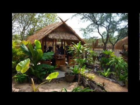 Bamboo Gardens Restaurant, Nikhom Kham Soi Thailand 1st Feb 2012.wmv