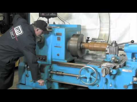 "24"" x 96"" Cincinnati Used Lathe demonstration by Industrial Machinery"