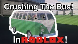 Crushing The Bus | Roblox With Milk