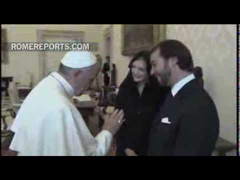 The Princes of Luxembourg visit Pope Francis for the first time
