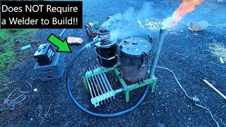 Building a No-Weld Woodgas Generator! (A Functional Gasifier Built W/ a Hand Drill and Grinder?!)