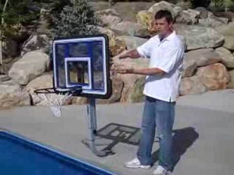 QuikFire Pool Basketball Hoop by SwimShape - YouTube