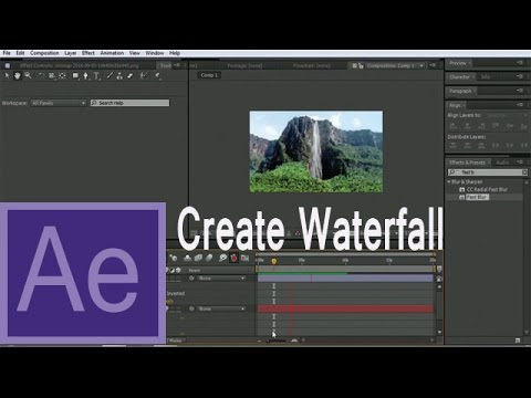 After Effects Tutorial - How to Create Waterfall / VFX Tutorials