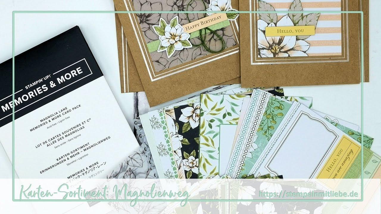 Stampin Up Karten Sortiment Erinnerungen Mehr Magnolienweg