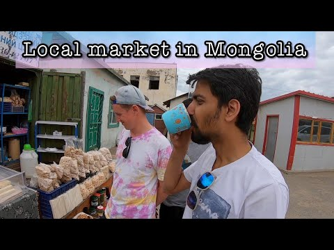 LOCAL MARKET IN MONGOLIA !! DRANK HORSE MILK