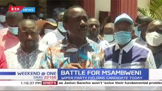 Kalonzo Musyoka tours Coast as he prepares to field a candidate in Msambweni by-election