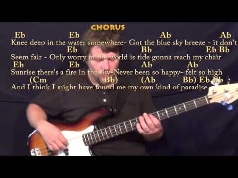 Knee Deep (Zac Brown) Bass Guitar Cover Lesson with Chords/Lyrics in Eb Major