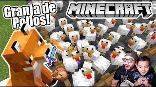 Granja de Pollos y Zorros con Espada en Minecraft | Pollos contra Zorros | Juegos Karim Juega