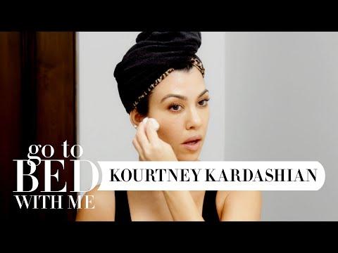 Kourtney Kardashian's Nighttime Skincare Routine | Go To Bed With Me | Harper's BAZAAR