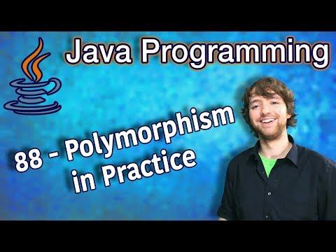 Java Programming Tutorial 88 - Polymorphism in practice thumbnail
