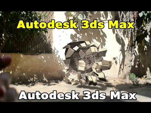 3ds max Tutorial, Explosion of a real wall with Camera tracking