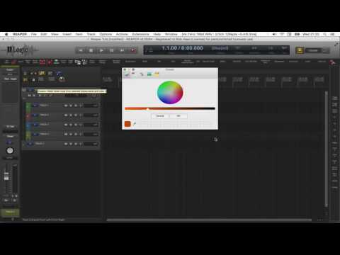 Reaper DAW: Making a Folder Track, fast and convenient.