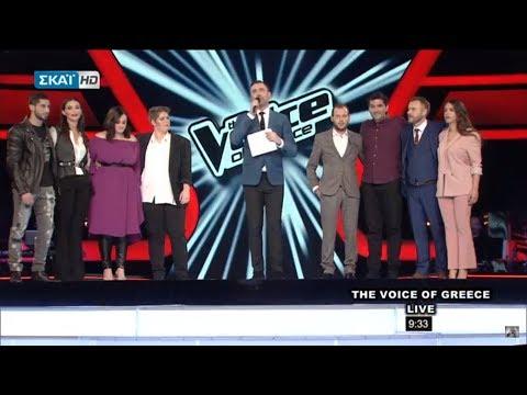 The Voice Of Greece  (13/12/2017) ~  Ανακοίνωση των τεσσάρων για τον  τελικό