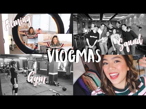 VLOGMAS!! Gym, FIlming BTS, Adidas Event + Squad Hangouts |