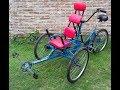 Triciclo canguro (bici canguro tandem doble) detalles de construcción