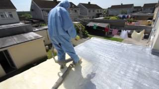 FUSION INSULATION FLAT ROOF REPAIR SYSTEM WITH ULTIMATE LININGS POLYUREA