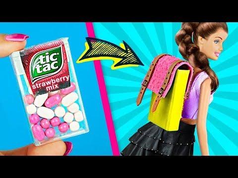 11 Miniatur Barbie Schulsachen Sachen Die Wirklich Funktionieren / Verrückte Tricks Für Deine Barbie