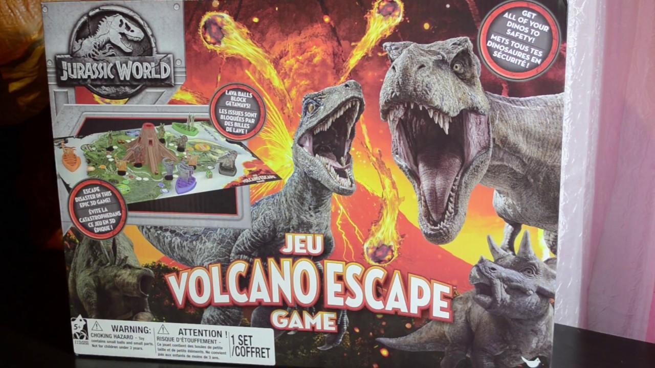 Jurassic World Volcano Escape 3 D Board Game Youtube