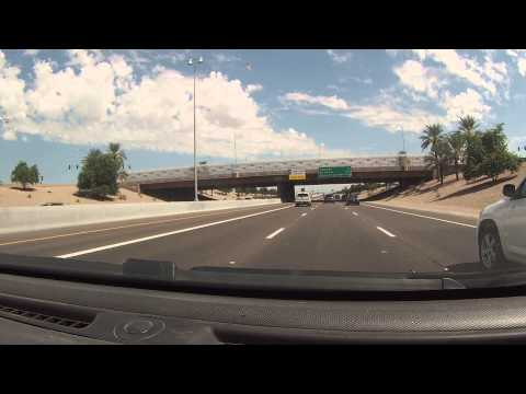 Drive through Chandler, Arizona on Queen Creek Rd to Dobson to San Tan Freeway Loop 202, GOPR0084