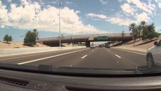 Drive through Chandler, Arizona on Queen Creek Rd to Dobson to San Tan Freeway Loop 202, GOPR0084