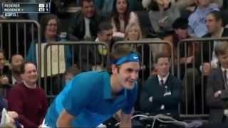 Andy Roddick Vs Roger Federer BNP Paribas Showdown 2012 highlights