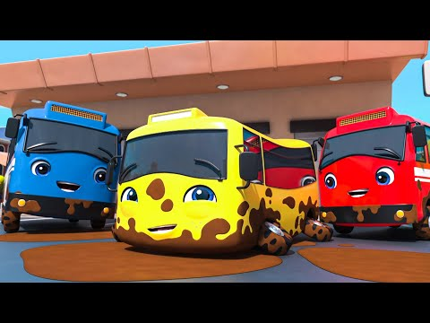 Carwash Song - Go Buster the Yellow Bus | Nursery Rhymes & Cartoons | LBB Kids