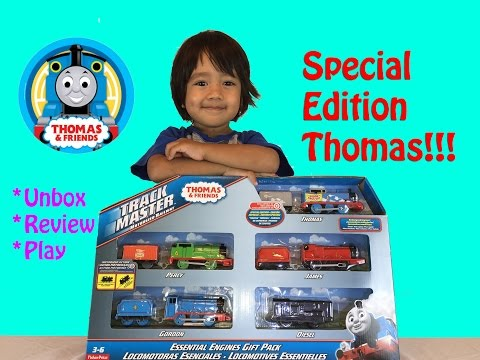 Ryan Plays With Thomas & Friends Special Edition Thomas Trackmaster