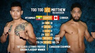 Too Too vs Matthew, Myanmar Lethwei Fight, All Star Big Fight 2015