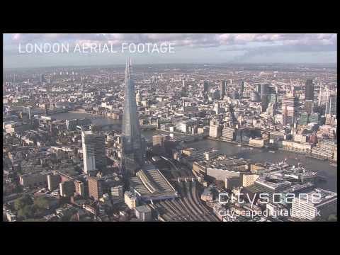 London Aerial Footage - The Shard and London Bridge, London, UK (HD)