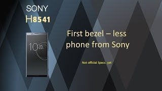 Sony H8541 First bezel – less phone from sony