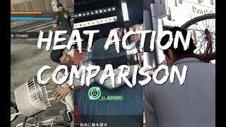 Yakuza Series & Judge Eyes - Heat Action animation comparison