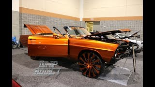 WhipAddict: Kandy Orange 67' Ford Galaxie 500 Convertible on 718 Starr Wheel 28s, Custom Interior