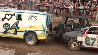 Mitchell Fair Demolition Derby 2015 | Trucks