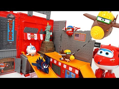Thumbnail: Super Wings Jett! Let's go to New York with mini tranforming friends - DuDuPopTOY