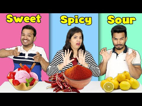 Sweet Vs Spicy Vs Sour Challenge Part 2 | Hungry Birds