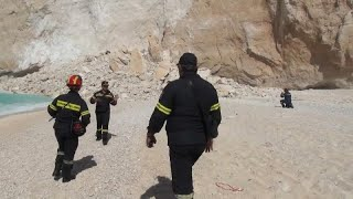 Tourists injured in Greek Island rockfall