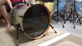 20 Aquarian Regulator w/ Super Kick II on 20x20 maple bass drum head test