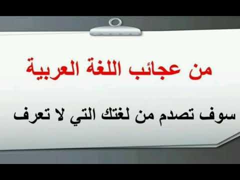ايات عن اللغة العربية الفصحة