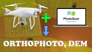 Processing Drone Images in Photoscan 1.4.3 and produce Orthophoto point cloud DEM-Agriculture Area