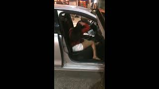 Drunk Girl Tries To Hijack An Uber and Destroys His Car! thumbnail