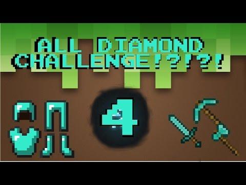 24 DIAMONDS ALREADY?!?!?! ALL DIAMOND CHALLENGE #4   Minecraft: (Alone Gamer)
