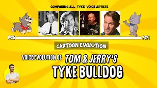 Voice Evolution of TOM & JERRY'S TYKE BULLDOG - 72 Years Compared & Explained