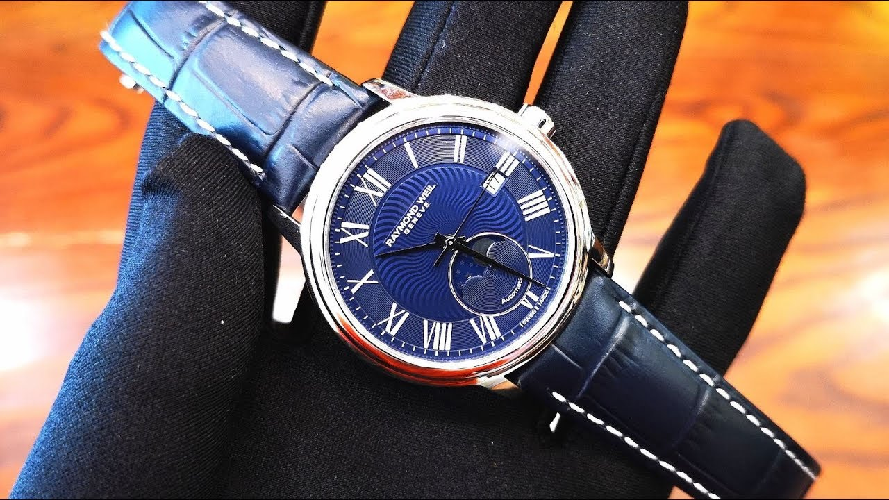 582e1e0a2a1 Review Đồng Hồ  Raymond Weil Maestro 2018 Moonphase 2239-STC-00509 ...