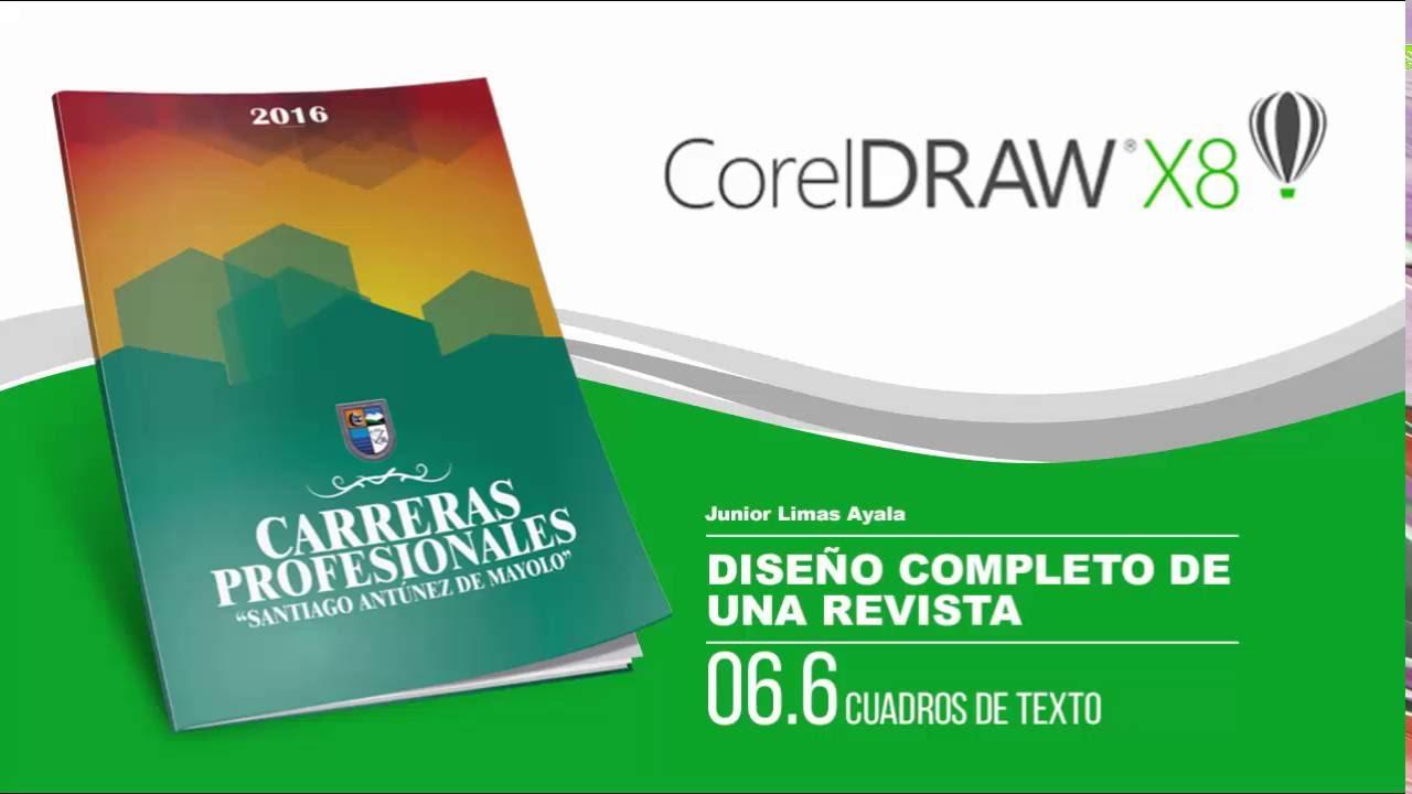 Cuadros de Texto en CorelDraw X8 - X7 - X6 - X5 - Previos al diseño ...