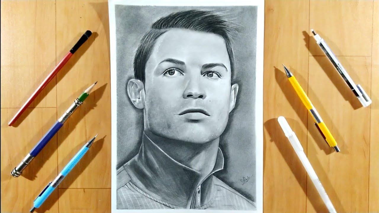 Cristiano ronaldo ⚽ pencil sketch